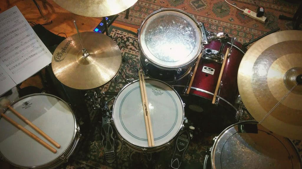 Drums in Band Practice