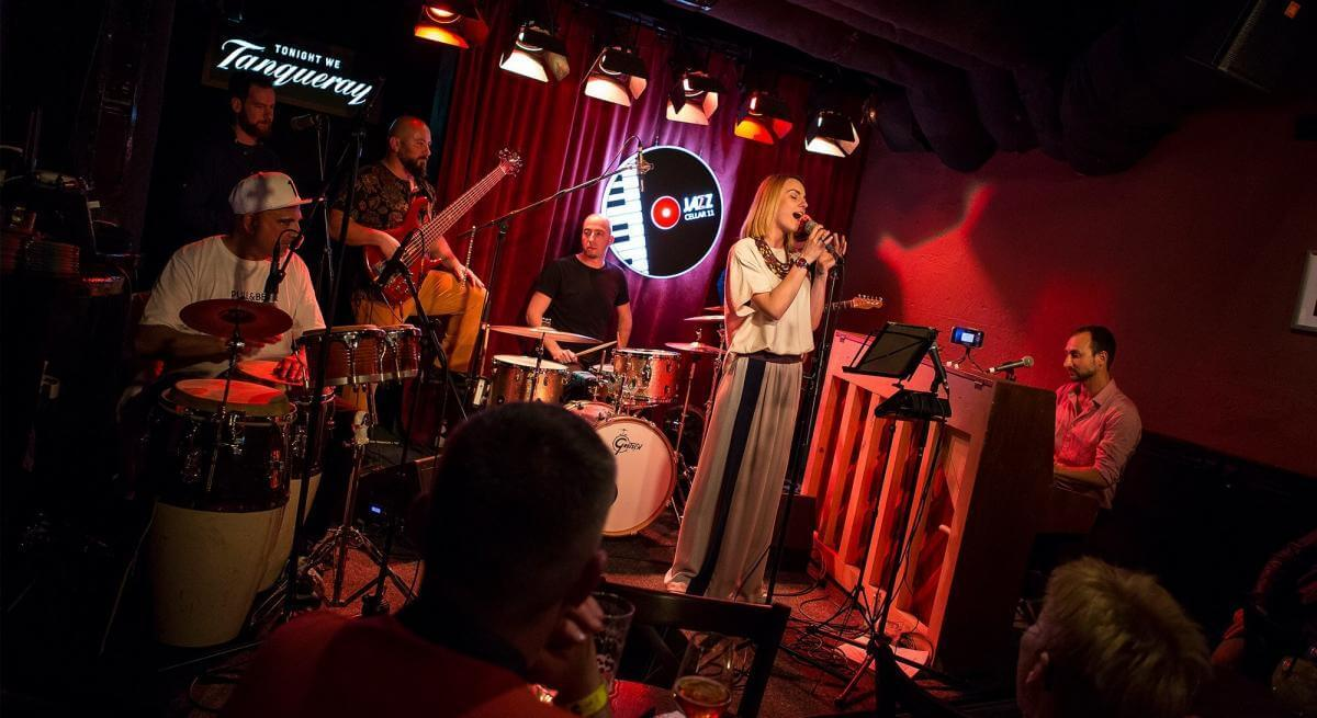 Playing in the Jazz Cellar, Vilnius (2019)
